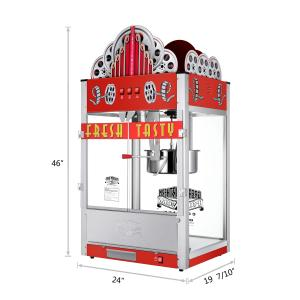 Great Northern Popcorn 20 Ounce Red Commercial Style Popcorn Machine, Movie Theater Marquee Popper