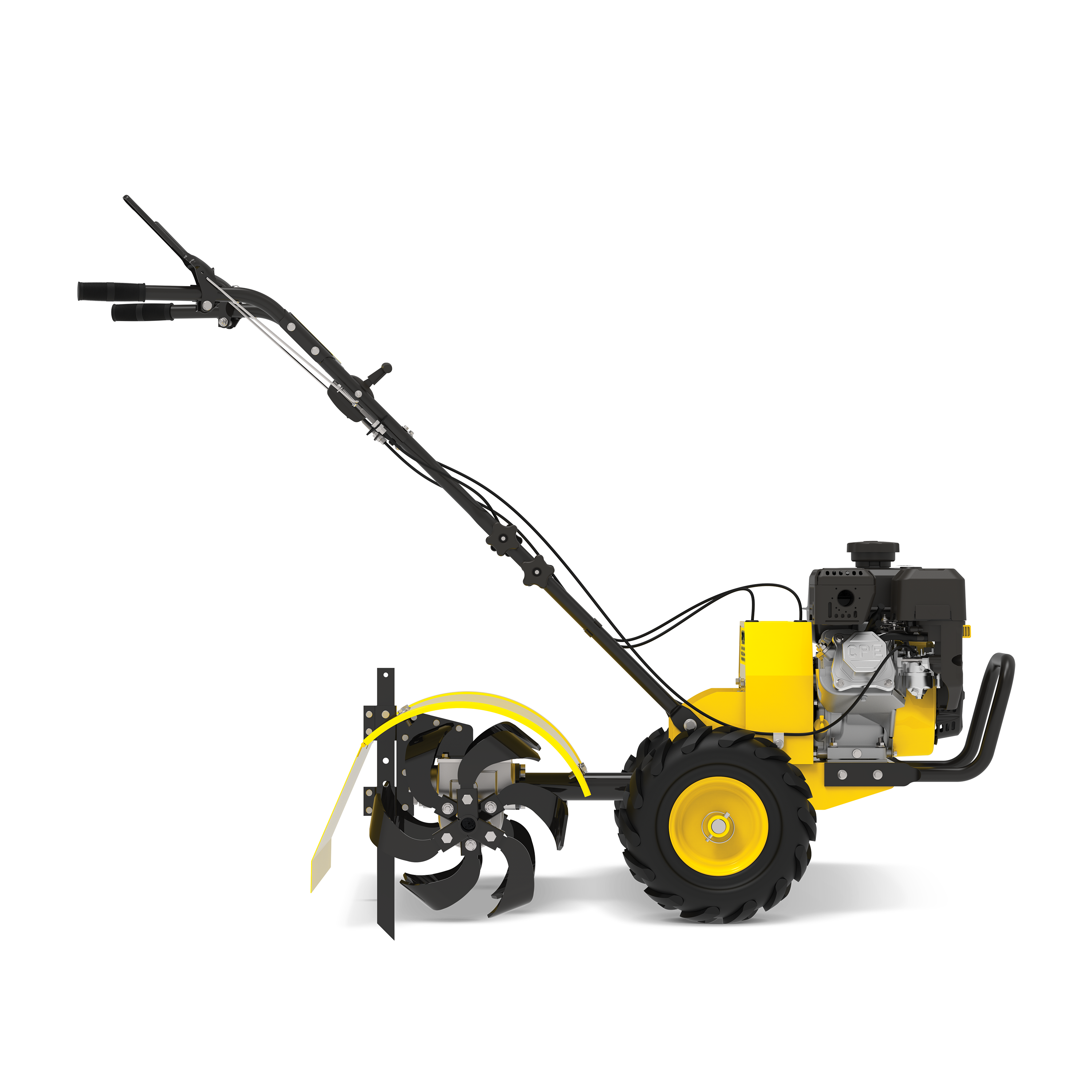 Champion Power Equipment 19-Inch Counter Rotating Rear Tine Tiller with Self-Propelled Agricultural Tires
