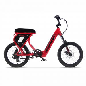 Hyper Bicycles Radster Electric Bike, 20inch Wheels, Low Step 36 volt, 20+ Mile Range, Red