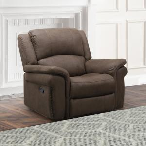 Devon & Claire Felix Fabric Recliner, Dark Brown
