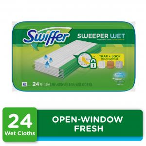 Swiffer Sweeper Wet Pad Refills, Open Window Fresh, 24 ct