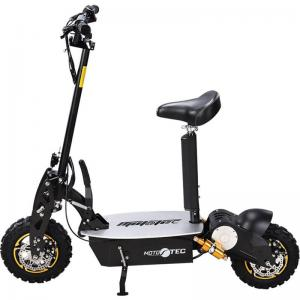 MotoTec 2000w 48v Stand Up Electric Scooter with Seat Black