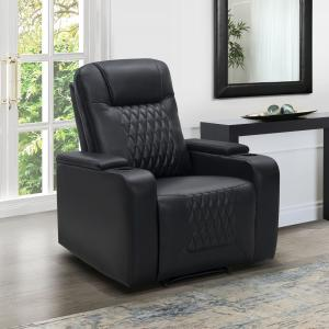 Devon & Claire Gregor Manual Theater Recliner, Black