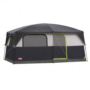 Coleman Prairie Breeze 8-Person Cabin Tent with Built-In LED Light and Integrated Fan