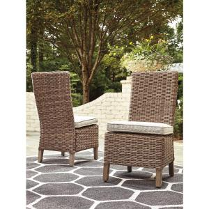 Signature Design by Ashley Beachcroft Outdoor Beige Side Chair with Cushion – Set of 2