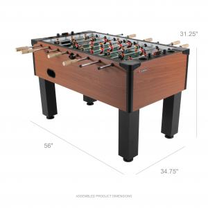Atomic Gladiator 56″ Foosball Table with Internal Ball Return System and Ball Entry and Integrated Cup Holders