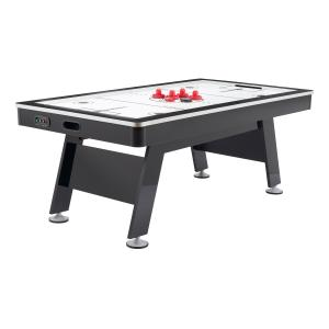 Airzone Air Hockey Table with High End Blower, 80″, Black and Chrome