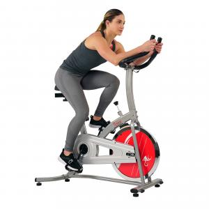Sunny Health & Fitness Indoor Cycling Exercise Stationary Bike with Monitor and Flywheel Bike – SF-B1203