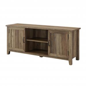 Franklin Grooved Two-Door Reclaimed Barnwood TV Console by Bridge Harbor