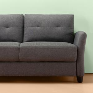 Zinus Ricardo Loveseat, Dark Grey