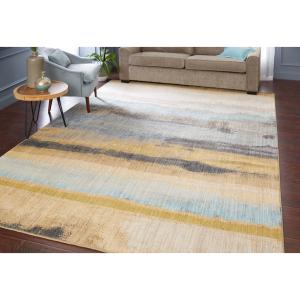 """Mohawk Home Muse Odin Lagoon Woven Area Rug, 5'3″x7'10"""", Blue & Yellow"""