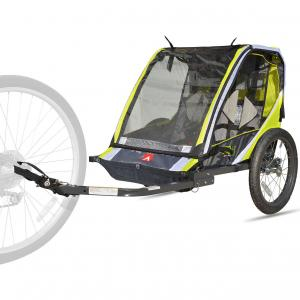 Allen Sports Deluxe 2-Child Bike Trailer – Green