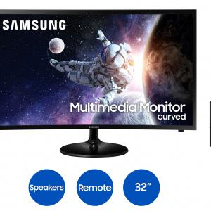 Samsung 32″ Curved 1920×1080 HDMI 60hz 4ms FHD LCD Monitor – LC32F39MFUNXZA (Speakers Included)