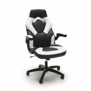 OFM Essentials Collection Racing Style Bonded Leather Gaming Chair (3085), White