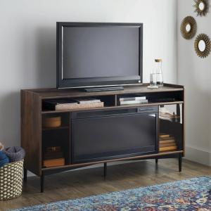 Better Homes & Gardens Montclair Entertainment Fireplace TV Stand for most Flatscreen TVs up to 60″, Vintage Walnut Finish