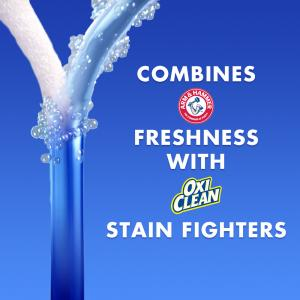 Arm & Hammer Plus OxiClean Fresh Scent, 128 Loads Liquid Laundry Detergent, 224 Fl oz