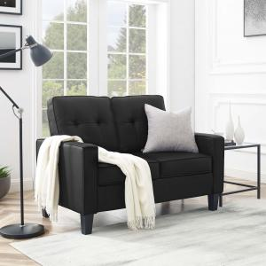 Mainstays Faux Leather Apartment Loveseat, Multiple Colors