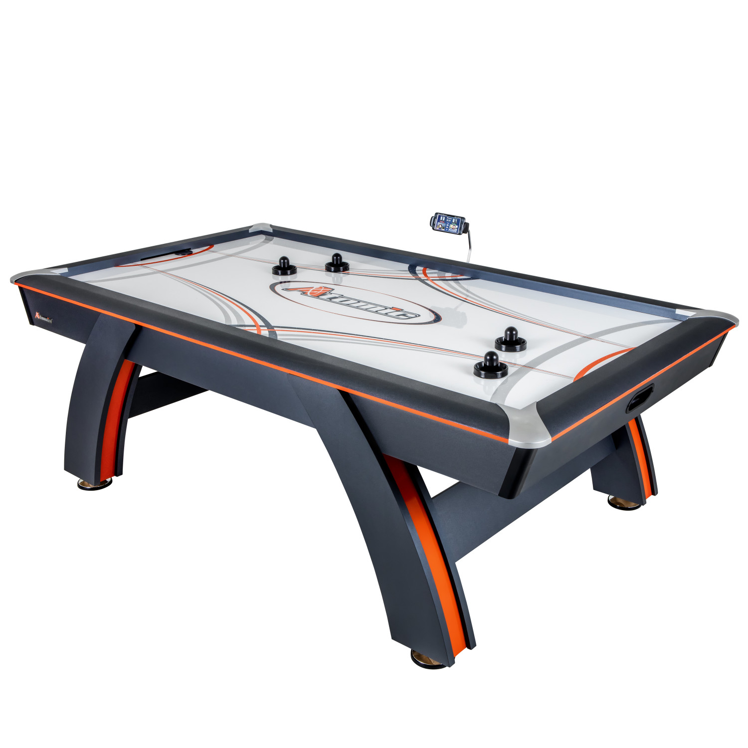 Atomic 7.5′ Contour Air Powered Hockey Table with ScoreLinx Mobile App Technology