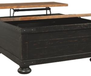Signature Design by Ashley Valebeck Black/Brown Square Lift Top Cocktail Table
