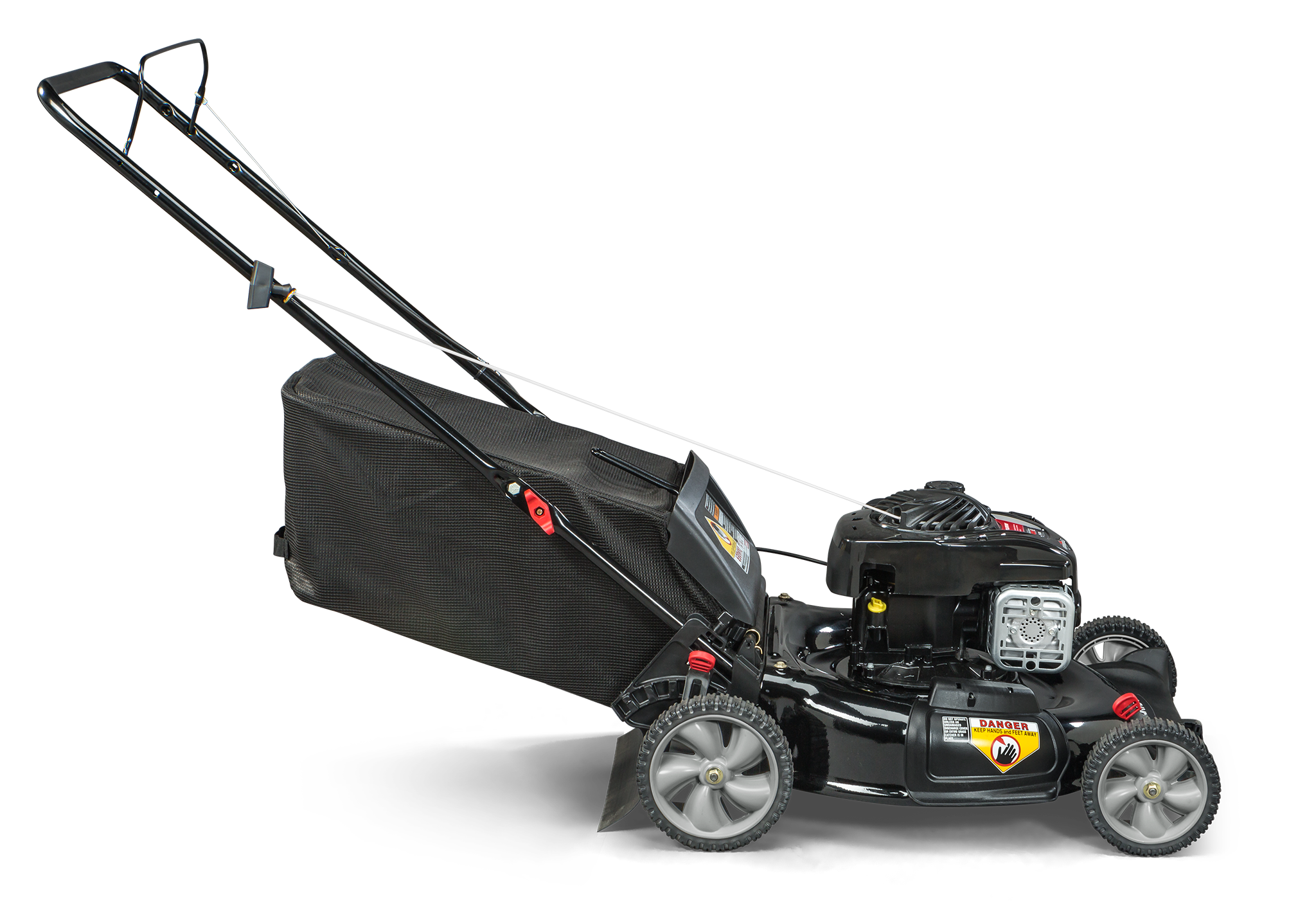 Murray 21″ Gas Push Lawn Mower with Briggs and Stratton Engine, Side Discharge, Mulching, Rear Bag