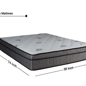 WAYTON 13 Inch Soft Foam Encased Hybrid Euro Top Pillow Top Innerspring Mattress and 4″ Wood Traditional Box Spring Set