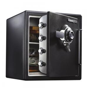 SentrySafe SFW123DTB Fire and Water-Resistant Safe with Dial Lock, 1.23 Cu. ft.