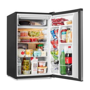 Galanz 4.3 cu ft Single Door Mini Fridge with Chiller GL43S5, Stainless