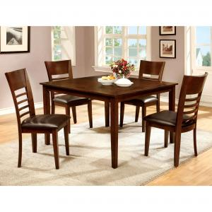 Furniture of America Jenson Transitional 5-Piece Counter Height Dining Set, Brown Cherry