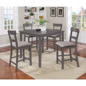 Crown Mark Grey Henderson 5-Pk Counter Height Dining Set