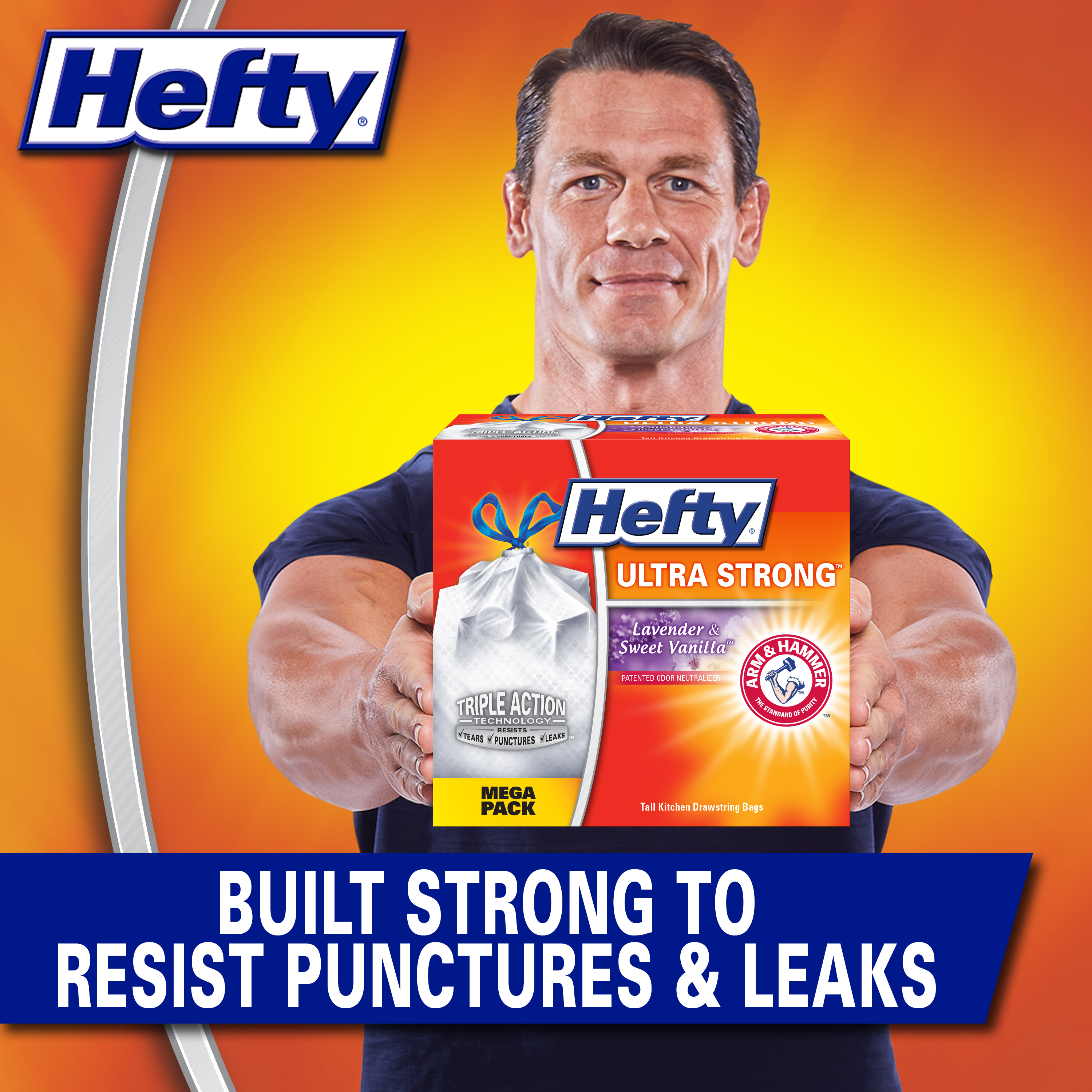 Hefty Ultra Strong Tall Kitchen Trash Bags, Lavender & Sweet Vanilla Scent, 13 Gallon, 80 Count