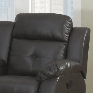 AC Pacific Troy Power Reclining Love Seat with Storage Console and Cupholders