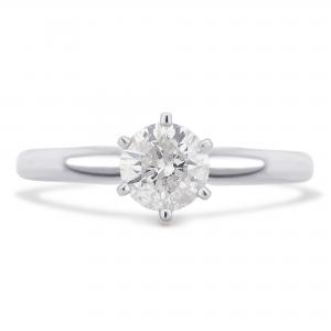 3/8 Carat T.W. Round Diamond 14K White Gold Solitaire Engagement Ring