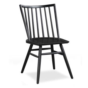 Poly & Bark Talia Dining Chair in Black (Set of 2)