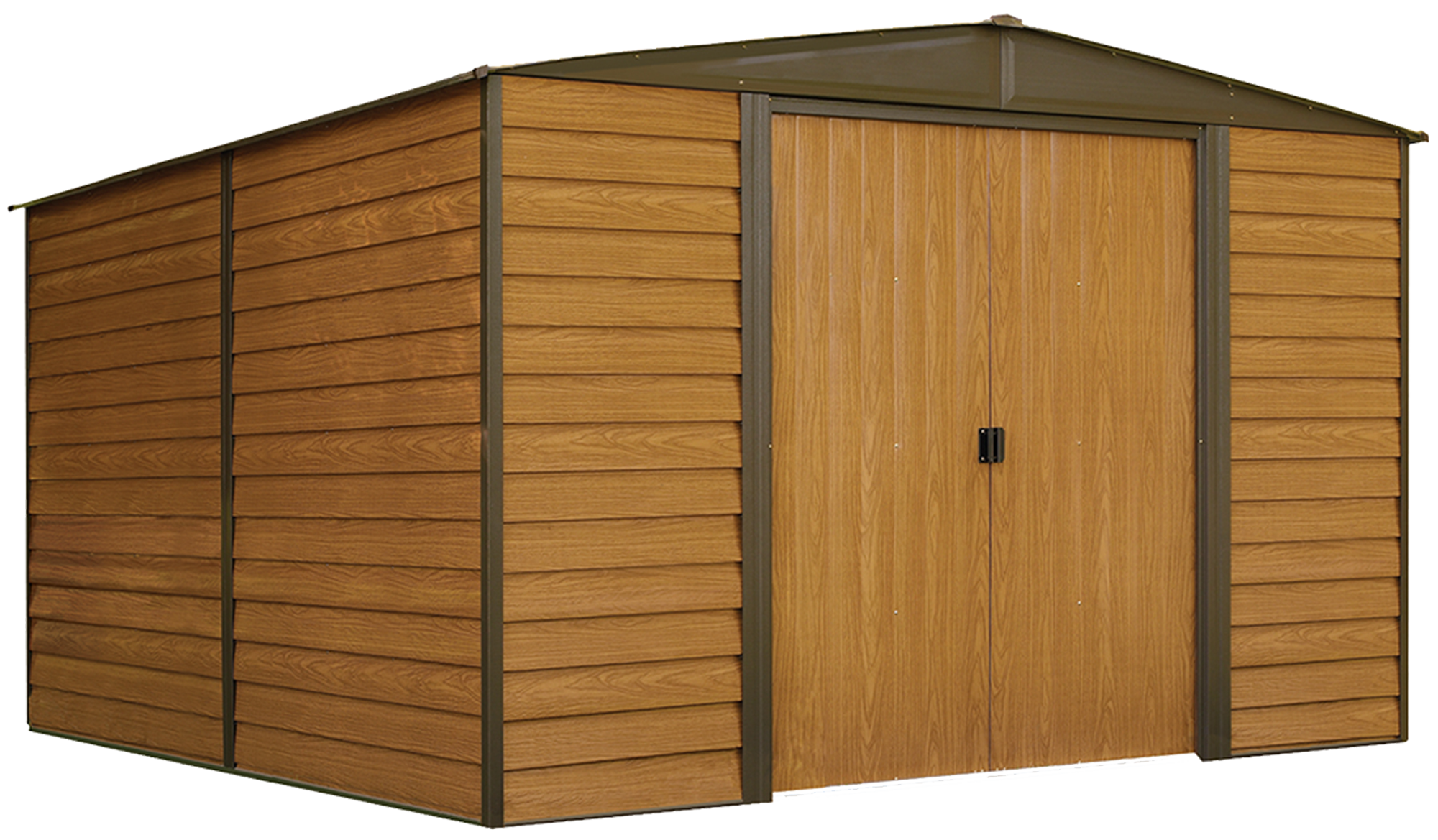 Arrow Woodridge Shed, 10 x 8 ft, Steel Shed with Wood Finish for Outdoor Storage