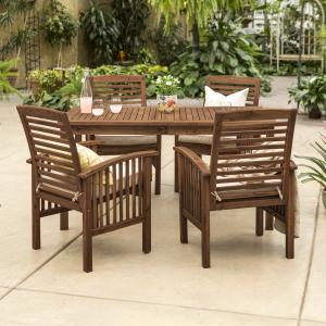 Manor Park Outdoor Patio Dining Set, 5 Piece, Multiple Colors and Styles