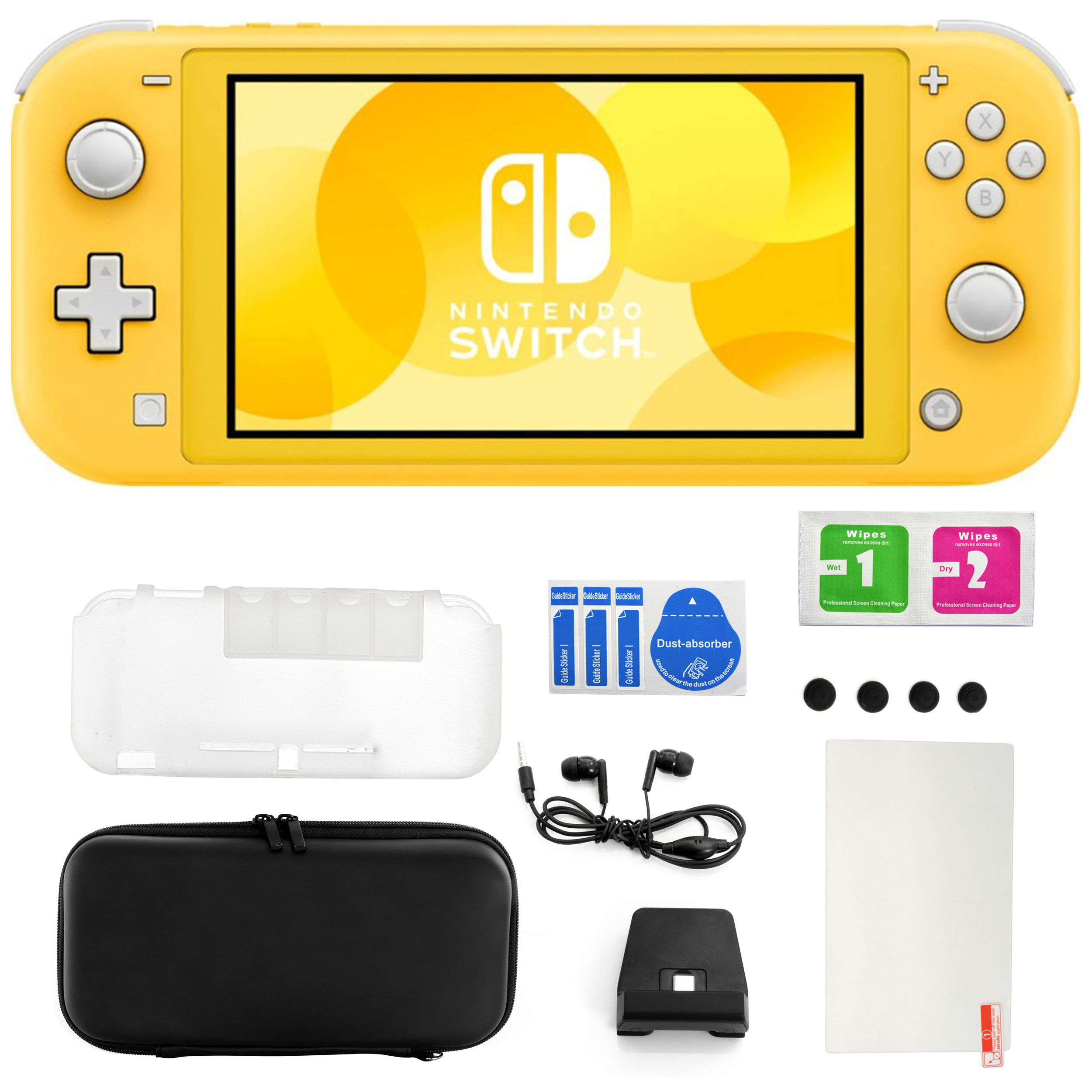 Nintendo Switch Lite in Yellow with 11 in 1 Accessories Kit