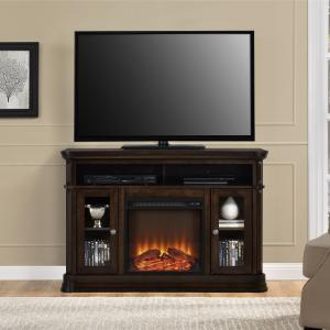 Brooklyn Fireplace TV Console for TVs up to 50″, Espresso