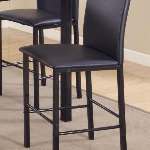 Roundhill 5 Piece Citico Counter Height Metal Dinette Set with Laminated Faux Marble Top, Black
