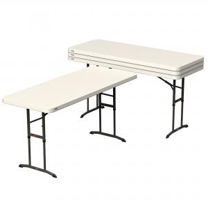 Lifetime 6-Foot Adjustable Height Table – 4 Pk (Commercial), 480565