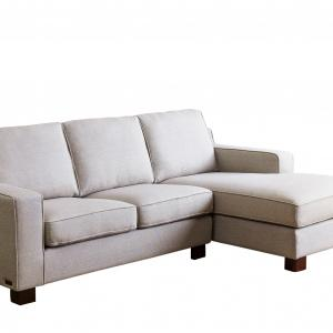 Devon and Claire Phoebe Gray Contemporary Fabric Sectional