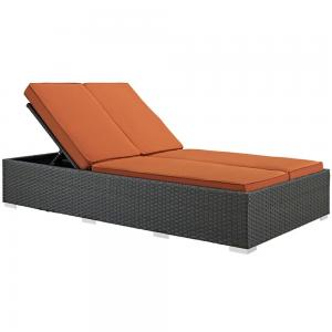 Modway Sojourn Outdoor Patio Sunbrella Double Chaise, Multiple Colors