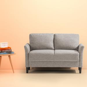 ZINUS Jackie Loveseat, Soft Grey