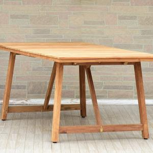 Amazonia Klaude Rectangular Patio Table | Certified Teak | Ideal for Outdoors and Indoors