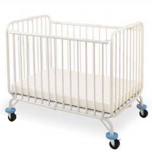 L.A. Baby Deluxe Holiday Folding Portable Mini Crib, White