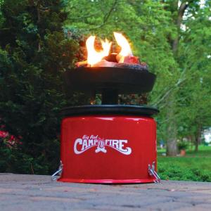 Camco 58035 Big Red Campfire – Approved for RV Campgrounds – Includes 10-Foot Propane Hose