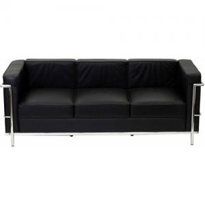 Modway LC2 Leather Sofa with Steel Frame, Multiple Colors