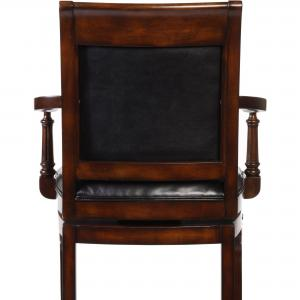 Hillsdale Furniture Douglas Wood Counter Height Return Swivel Stool, Distressed Cherry with Gold Highlights