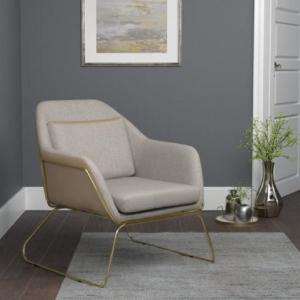 Coaster Company Modern Leatherette / Gold Accent Chair