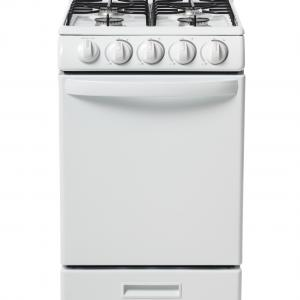 Danby 20″ Gas Range with 2.3 Cu Ft Oven in White, DR202WGLP