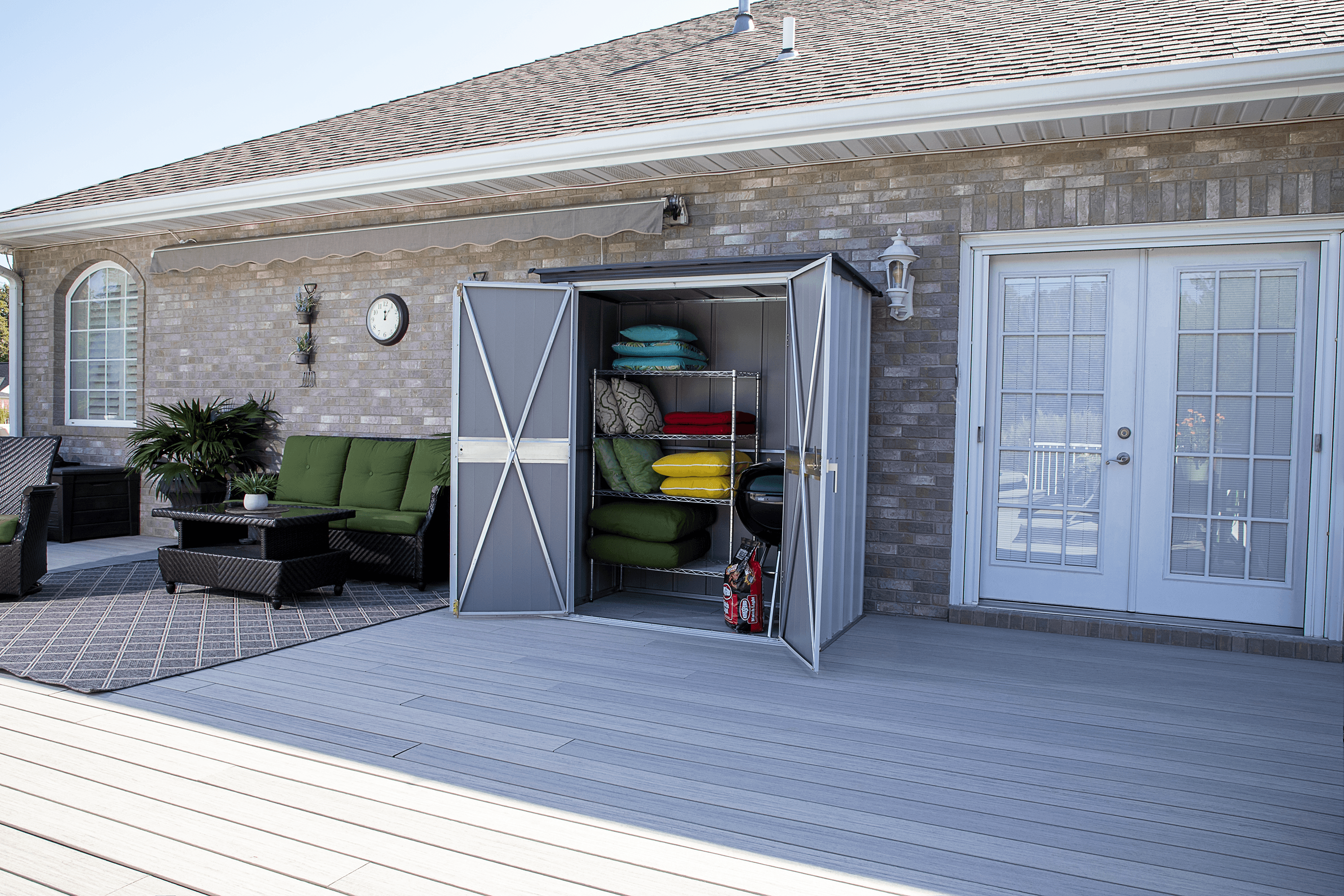 Spacemaker Patio Shed, 5×3, Flute Grey and Anthracite